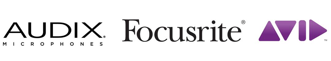 Bandeau-logo-Audix-Focusrite-Avid