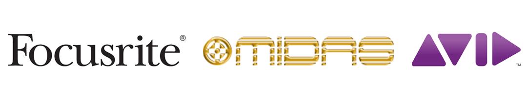 PNG Bandeau logo Midas Focusrite Avid